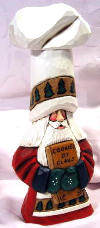 Christmas Dave Francis Carved Santa Decorations